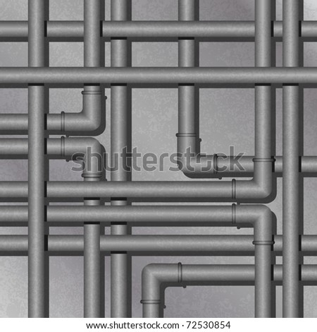 A Metal Steam Pipe, Tube Background - stock vector
