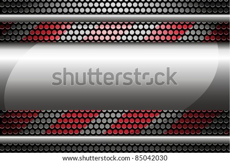 a metal vector background - stock vector