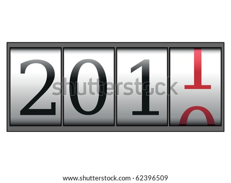 A meter of new years. - stock vector
