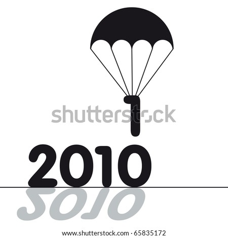 A meter of new years. 2010-2011. Vector illustration - stock vector