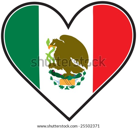 mexican flag shaped like heart stock vector hd royalty free rh shutterstock com free clipart american flag no fee free clipart american flag and soldier
