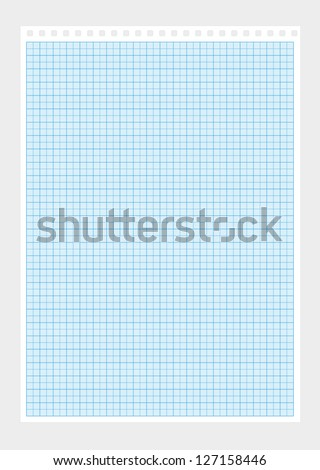 A4 millimeter paper vector background - stock vector