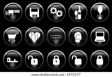 A miscellaneous set of buttons. - stock vector