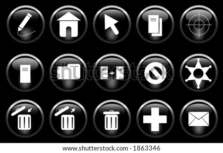 A miscellaneous set of buttons/icons. - stock vector