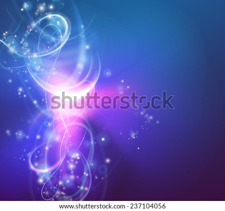 A modern abstract light swirl background with electric vortex shapes - stock vector