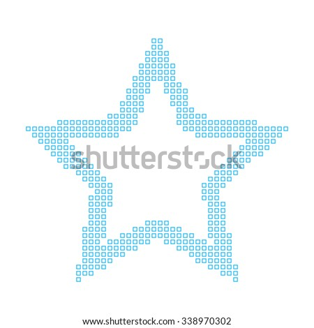 A Mosaic Icon Isolated on a White Background - Star