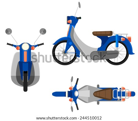 A motorcycle on a white background - stock vector