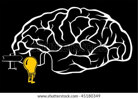 A new idea is coming in the brain - stock vector