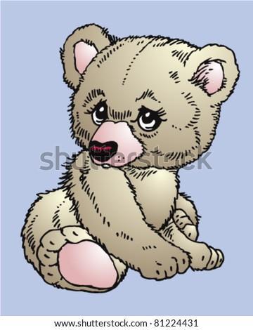 a nice illustration colorful teddy bear - stock vector