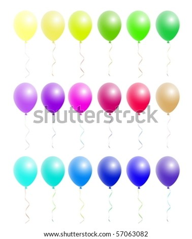 A nice set of colorful balloons - stock vector