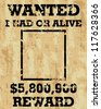 A old wanted posters / Vector wanted poster image - stock photo