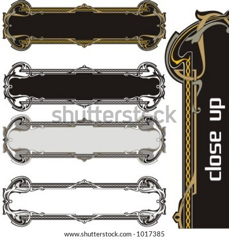 A pack of 4 very CLEAN and EXQUISITE panels with ornamental elements. All vectors are ready for vinyl cutting as well.