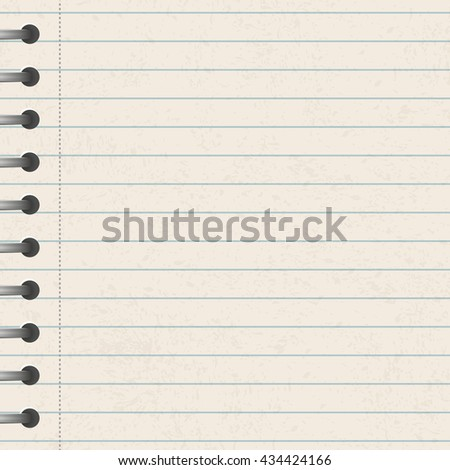 A page ripped off from the notebook - stock vector