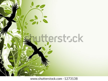 A Pair of Birds - stock vector