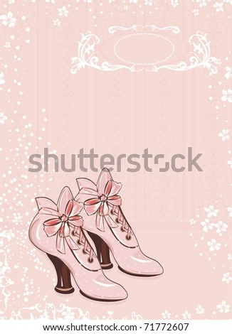 A pair of vintage woman's boots - stock vector