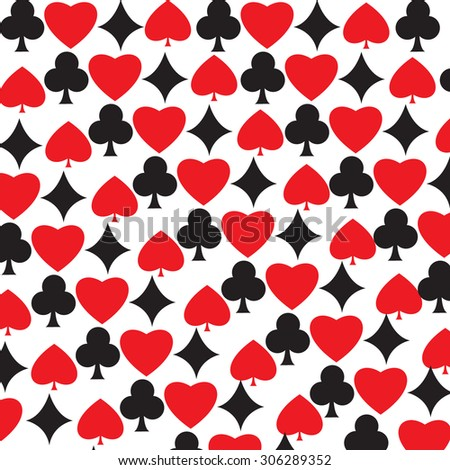 A pattern with poker card style.With red and black color.