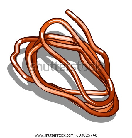 Piece Copper Wire Isolated On White Stock Vector HD (Royalty Free ...