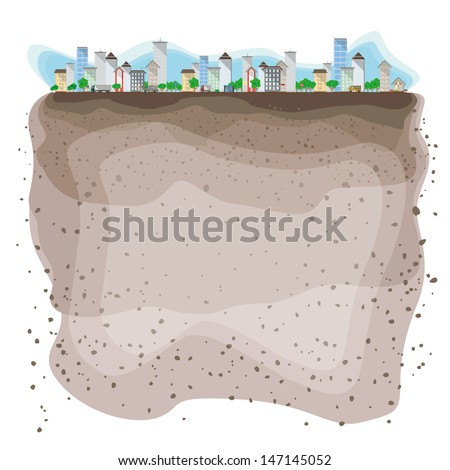 A piece of the city - stock vector