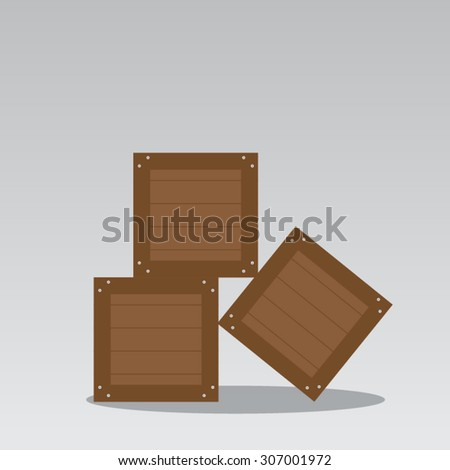 A pile of crates - stock vector