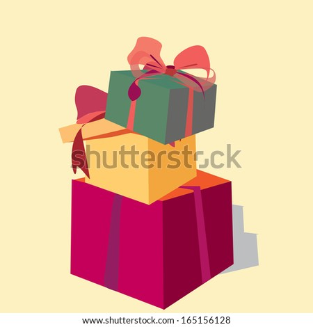 Pile gift boxes christmas birthday present stock vector hd royalty a pile of gift boxes christmas or birthday present negle Choice Image