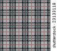 A pixel plaid pattern in grays with a red stripe. - stock vector