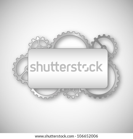 A Place in the text framed gears. Vector Graphics. - stock vector