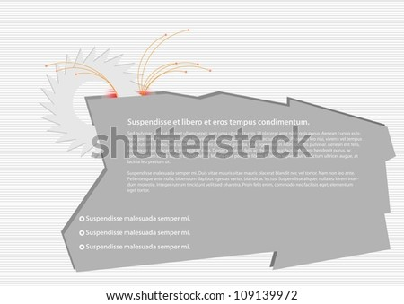 A Place in the text with saw - stock vector