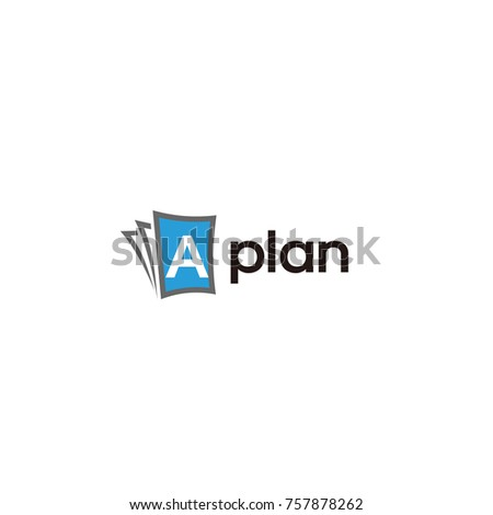 A plan paper logo vector flat template design