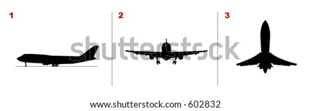 A plane taking off (Vectors 07)