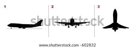 A plane taking off (Vectors 07) - stock vector