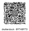 a QR code vector with attention to realistic detail such as uniform black modules and exact alignments. VECTOR. - stock vector