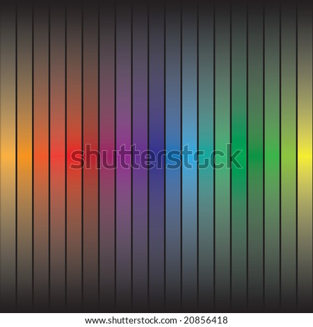 A rainbow colored abstract texture with colorful bars.  This vector is fully customizable. - stock vector
