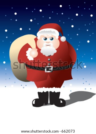 A rather rotund Santa in vector format