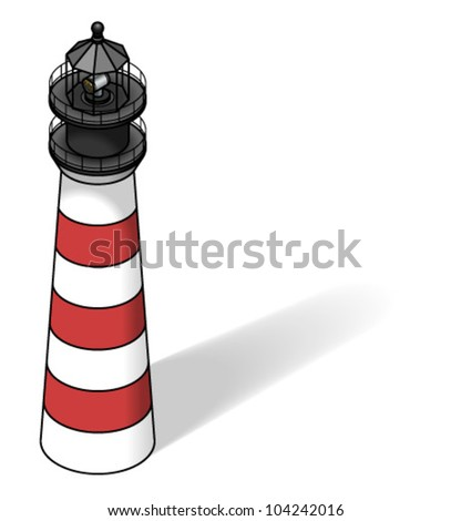 A red and white lighthouse.