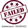 "A Red ""Failed"" Rubber Stamp Vector Illustration - stock photo"
