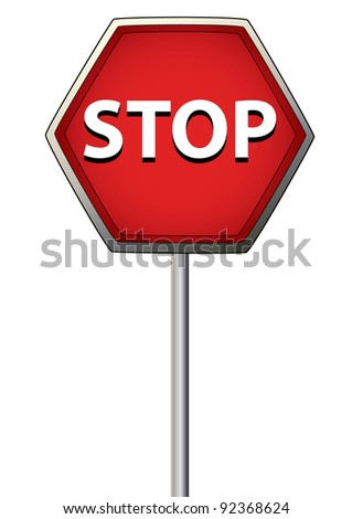 a red stop sign with a white background