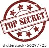 A Red 'Top Secret' Rubber Stamp Vector Illustration - stock vector