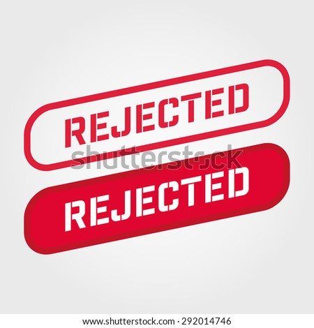 A Reject stamp vector over a white background.