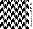 A repeating, seamless cats pattern in black and white. - stock vector