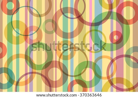 A Retro Abstract Background with Stripes and Circles  - stock vector