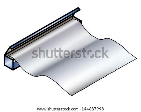 Roll Kitchen Tinaluminium Foil Stock Vector 144687998 Shutterstock