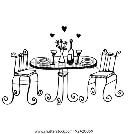 a romantic date - stock vector