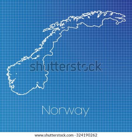 Schematic Outline Country Norway Stock Vector 324190262 - Shutterstock