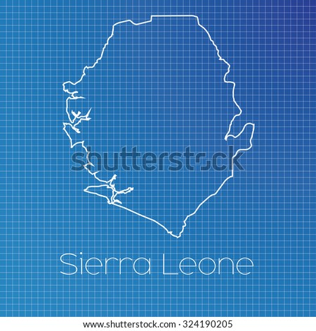 Schematic Outline Country Sierra Leone Stock Vector 324190205 ...