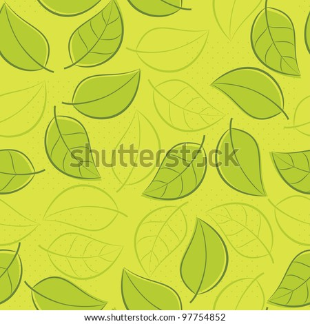 A seamless leaf pattern. - stock vector