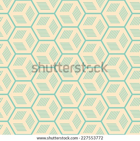 A seamless pattern background with a cubic style - stock vector