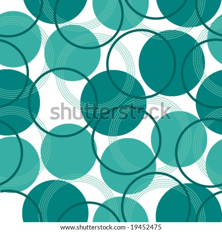 a seamless pattern with circles - stock vector