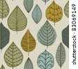 A seamless pattern with leaf,autumn leaf background - stock photo