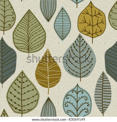 A seamless pattern with leaf,autumn leaf background - stock vector