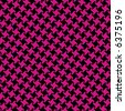 A seamless, repeating vector houndstooth pattern in magenta and black. - stock vector